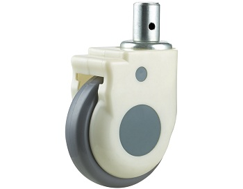 Medical Caster Thermoplastic Rubber Wheel Swivel Round